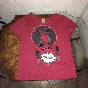 6 FOR $25 Deadpool Taco shirt